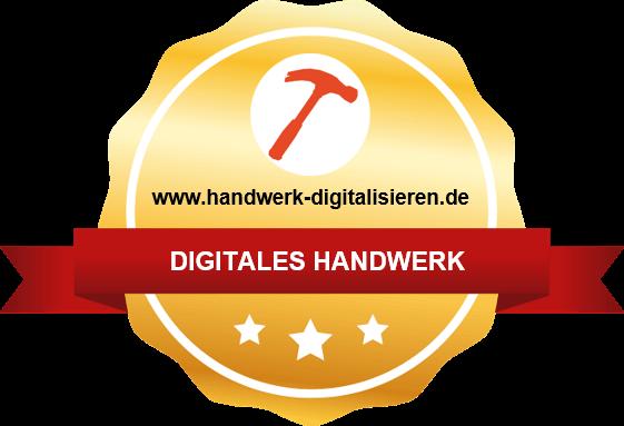 Auszeichnung digitaler Handwerksbetrieb von www.handwerk-digitalisieren.de